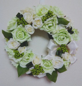 アーティフィシャルフラワー リース 最高品質めいっぱいのボリューム感 グリーン/造花/母の日/フラワー/お祝い