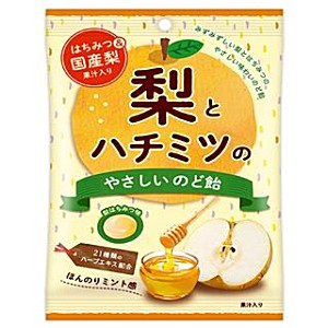 【送料無料】扇雀飴本舗 70g梨とハチミツのやさしいのど飴 6袋