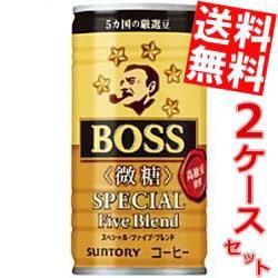 【送料無料】サントリー BOSSボス スペシャルファイブブレンド 微糖 185g缶 60本 (30本×2ケース) (缶コーヒー)big_dr