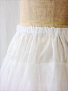 993e6f7248ef8 パニエ007 45cm丈のドレスのインナーパニエ チュールの2枚重ね 裏地付き. 2色Fサイズ
