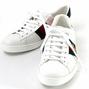 1e97dd5a31f4 【未使用】【中古】グッチ 靴 スニーカー 〔エース〕エンブロ イダリー付き