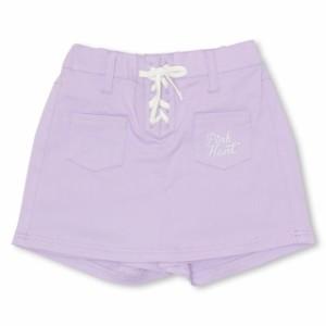 0d4fdebca6c50 NEW PINKHUNT ピンクハント スカート風 カラー ショートパンツ 1834K ベビードール 子供服 キッズ ジュニア. ブラック  パープル