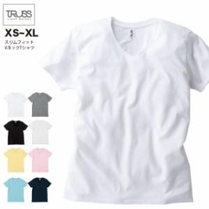 スリムフィット VネックTシャツ#SFV-113 XS~XL フェリック sst-c