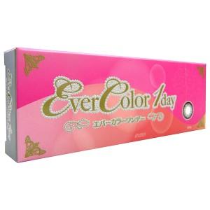 エバーカラーワンデー カラコン ワンデーカラーコンタクトレンズ 10枚入り×1箱 度あり ベビーピンク