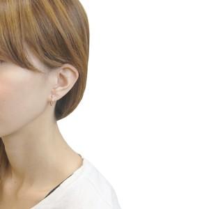 フープピアス K18ポスト 低アレルギー 日本製 リングピアス シンプル オシャレ デイリー 使いやすい 送料無料