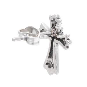 ピアス サージカルステンレス キュービックジルコニア クロス 十字架 カジュアル 人気 定番 ユニセックス 男女兼用