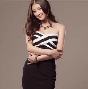 5b5c6233cb836 ベアトップ セクシーワンピース ミニ 全2色 ドレス タイトの通販はWowma!(ワウマ) -  アクセサリーショップPIENA|商品ロットナンバー:360198241