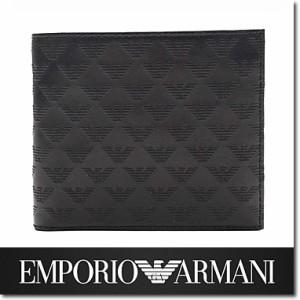 e8c9d69cec8d エンポリオ アルマーニ 財布 EMPORIO ARMANI メンズ 二つ折り財布 ブラック YEM122 YC043 80001☆送料無料