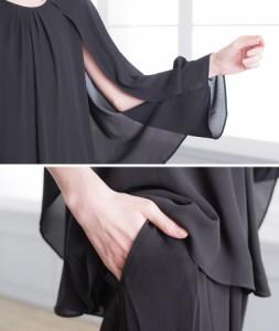 送料無料 パーティードレス パンツドレス パンツ セットアップ 結婚式 ドレス 20代 30代 40代 大きいサイズ 4way ケープ n052