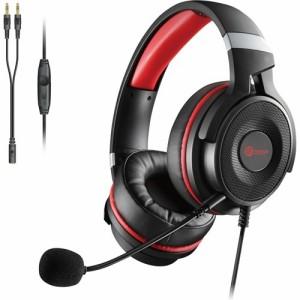 エレコム ゲーミング ヘッドセット PS4 Switch マイク付 有線 2m ブラック HS-G60BK(1セット)[ヘッドセット]