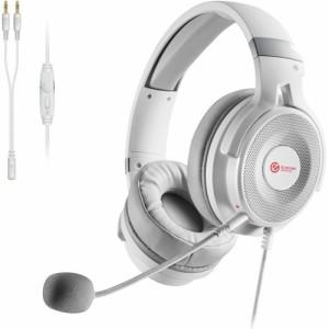 エレコム ゲーミング ヘッドセット PS4 Switch マイク付 有線 ホワイト HS-G60WH(1セット)[ヘッドセット]