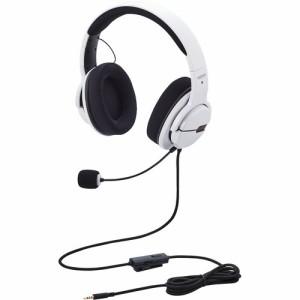 エレコム ゲーミング ヘッドセット 有線 高音質 マイク 2.0m ホワイト HS-ARMA100WH(1セット)[ヘッドセット]