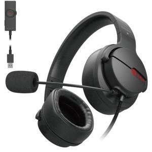 エレコム ゲーミング ヘッドセット 有線 高音質 マイク 2.0m ブラック HS-ARMA200VBK(1セット)[ヘッドセット]