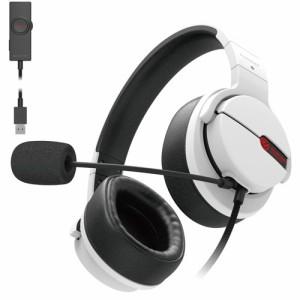 エレコム ゲーミング ヘッドセット 有線 高音質 マイク 2.0m ホワイト HS-ARMA200VWH(1セット)[ヘッドセット]