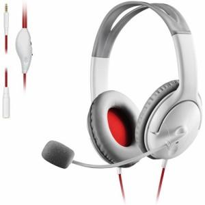 エレコム ゲーミング ヘッドセット PS4 Switch マイク付 有線 ホワイト HS-GM20WH(1セット)[ヘッドセット]