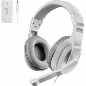 エレコム ゲーミングヘッドセット Switch PS4 PC マイク 4極 ホワイト HS-GM30MWH(1セット)[ヘッドセット]