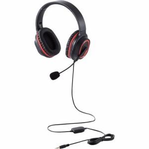 エレコム ゲーミング ヘッドセット PS4 Switch マイク付 有線 2m ブラック HS-G30BK(1セット)[ヘッドセット]