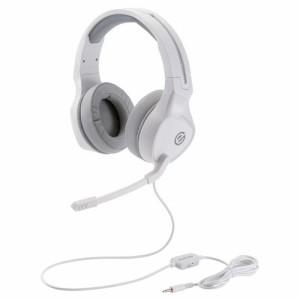 ゲーミングヘッドセット 両耳オーバーヘッド 50mmドライバ搭載 ホワイト HS-G01WH(1個)[ヘッドセット・イヤホン類]