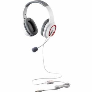 エレコム ゲーミング ヘッドセット PS4 Switch マイク付 有線 2m ホワイト HS-G30WH(1セット)[ヘッドセット]