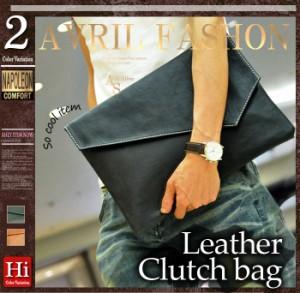クラッチバッグ 鞄 Puレザー クラッチバッグ セカンドバッグ トートバッグ メンズ 男性 ブラック 黒 ブラウン 茶 大きめ 旅行