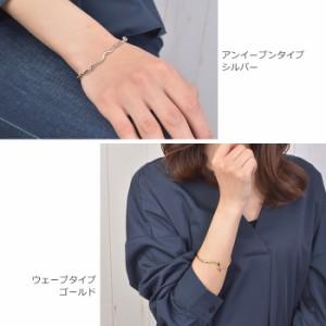 バングル ブレスレット ブレス メタル 細身 ノット 結び目 2連風 シンプル Luxury's ゴールド シルバー