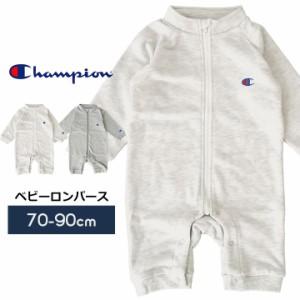 299b4ca45e0684 チャンピオン Champion ベビー ロンパース ジップアップ カバーオール 男の子 女の子 赤ちゃん 70cm 80cm 90cm