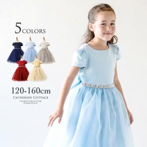 子供ドレスウエストビジューシックドレスワンピース女の子フォーマル 120 130 140 150 160cm TAK PC780