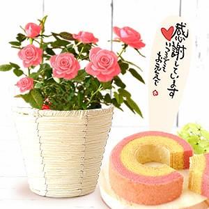薔薇≪ピンク≫&苺バウム
