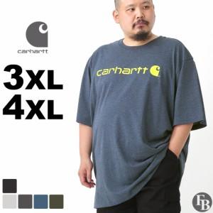 [ビッグサイズ] カーハート Tシャツ メンズ 半袖 厚手 K195 BIG 3XL-4XL Carhartt|4L 5L 大きいサイズ ブランド 定番アイテム