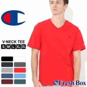 チャンピオン Tシャツ 半袖 Vネック 無地 大きいサイズ USAモデル ブランド Champion 半袖Tシャツ アメカジ S M L LL 2L 3L 春新作