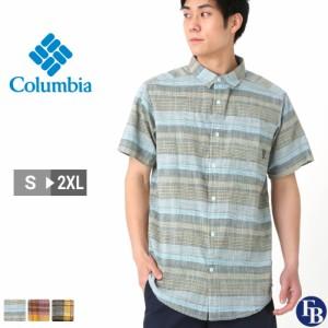 Columbia コロンビア シャツ メンズ チェック 半袖 薄手 チェックシャツ 大きいサイズ (USAモデル)