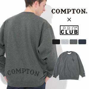 秋新作 【送料無料】 トレーナー メンズ プロクラブ コンプトン コラボ comxpc0001 PRO CLUB COMPTON BASIC LOGO