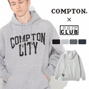 秋新作 【送料無料】 パーカー プルオーバー メンズ プロクラブ コンプトン コラボ comxpc0006 PRO CLUB COMPTON THE CITY