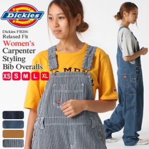 [レディース] ディッキーズ オーバーオール ヒッコリー ウォッシュデニム ダック 大きいサイズ FB206 USAモデル|ブランド Dickies|オー