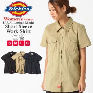 [割引クーポン配布] ディッキーズ レディース シャツ 半袖 FS574 ワークシャツ|大きいサイズ USAモデル Dickies Womens