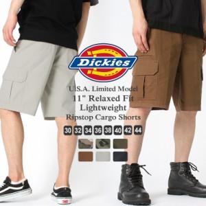 ディッキーズ ハーフパンツ ひざ下 リップストップ リラックスフィット WR351 メンズ ウエスト 30〜44インチ 大きいサイズ USAモデル Dic