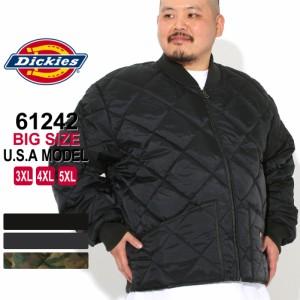 秋新作 [ビッグサイズ] ディッキーズ キルティングジャケット 61242 メンズ ナイロンジャケット|大きいサイズ USAモデル Dickies|ワー