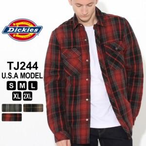 [割引クーポン配布] ディッキーズ シャツジャケット ボアライニング TJ244 メンズ 大きいサイズ USAモデル Dickies