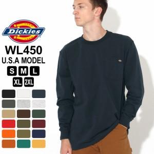 [割引クーポン配布] ディッキーズ Tシャツ 長袖 WL450 メンズ|大きいサイズ USAモデル Dickies