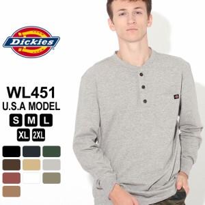 ディッキーズ Tシャツ 長袖 ヘンリーネック WL451 無地 メンズ 大きいサイズ USAモデル Dickies [春新作]