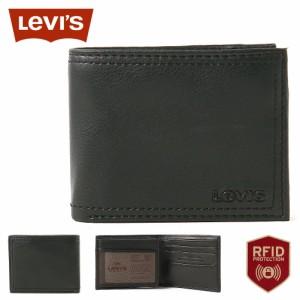 リーバイス 財布 二つ折り 中ベラ付き パスケース 本革 31LV240012 USAモデル ブランド Levis