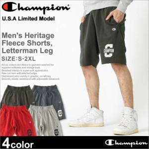 チャンピオン スウェット ハーフパンツ 膝上 メンズ 大きいサイズ USAモデル ブランド ショートパンツ ロゴ アメカジ Champion 春新作