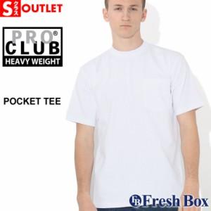 【Sランク】アウトレット 返品・交換・キャンセル不可 プロクラブ クルーネック ヘビーウェイト 半袖 Tシャツ ポケット 無地 メンズ 大