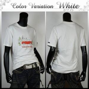 半袖Tシャツ 半袖カットソー メンズ VOLKSWAGEN プリントTシャツ 綿 半袖 S300223-05