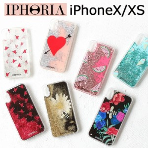 a791d24898 ポイント10倍 アイフォリア IPHORIA iPhoneX iPhoneXS 対応 iphoneケース グリッター キラキラ 動く 液体 流れる