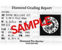 【送料無料】【カード鑑別書付】 K18PG ダイヤモンド ネックレス 『0.2ctUP H SI-2 Good』