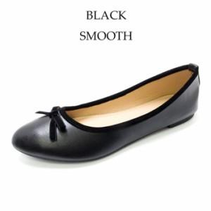 パンプス ぺたんこ リボン バレエシューズ レディース フラットシューズ ぺたんこ靴 レース 合皮 スムース 女性 カジュアル 靴