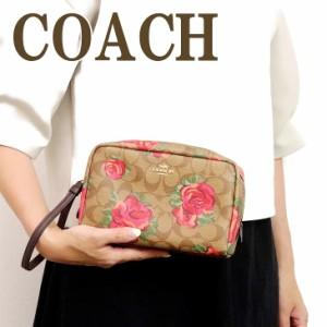 a5792e3bba60 コーチ COACH ポーチ クラッチバッグ 化粧ポーチ 花柄 37566IMLLW ブランド 人気