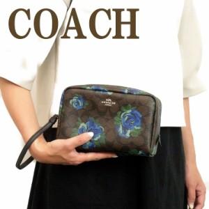 977cfcc71c73 コーチ COACH ポーチ クラッチバッグ 化粧ポーチ 花柄 37566SVN2R ブランド 人気