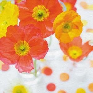 竹内陽子 ファブリックパネル 花 写真 yt-300-orange-003 アートパネル アートデリ Sサイズ 15cm×15cm lib-5701868s2  /NP 後払い/北欧/